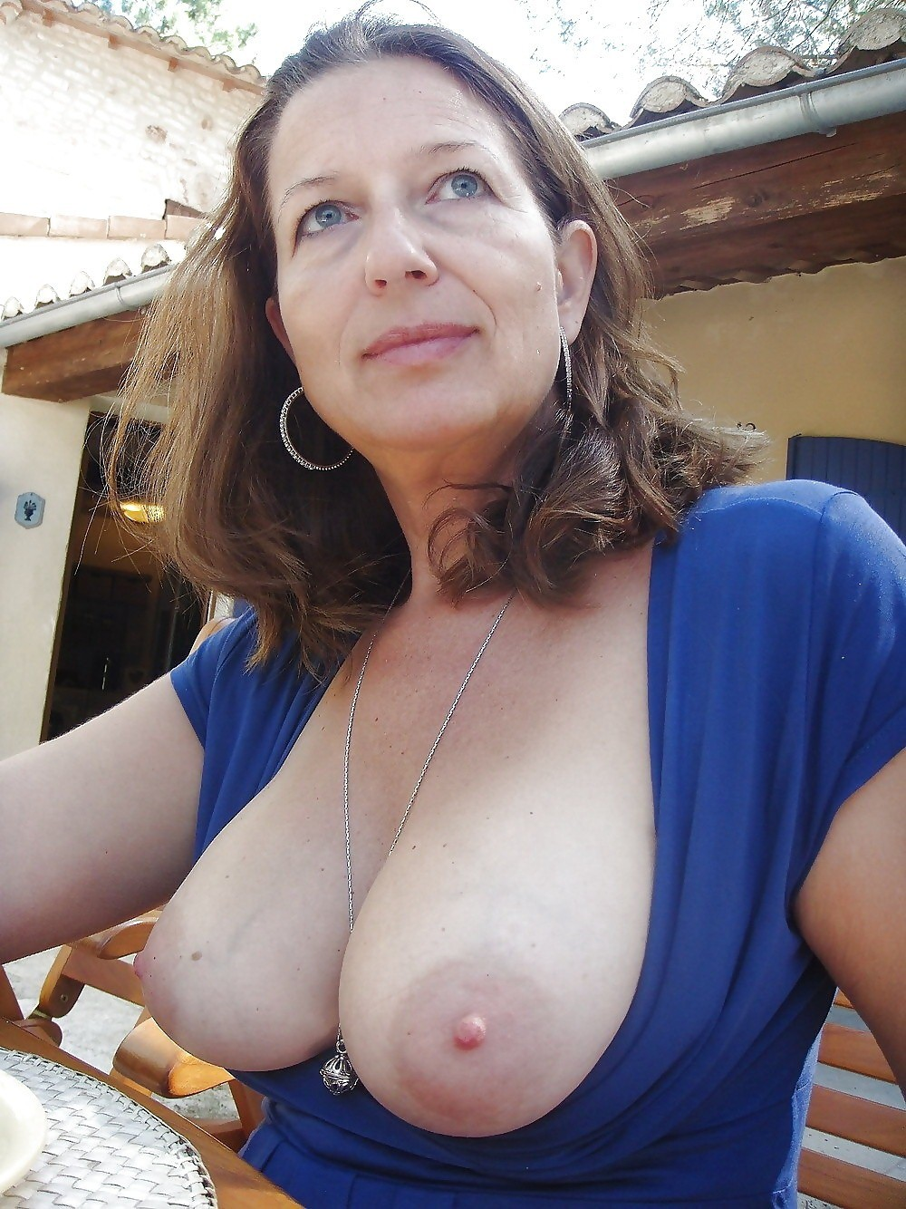 with saggy breasts Naked wives