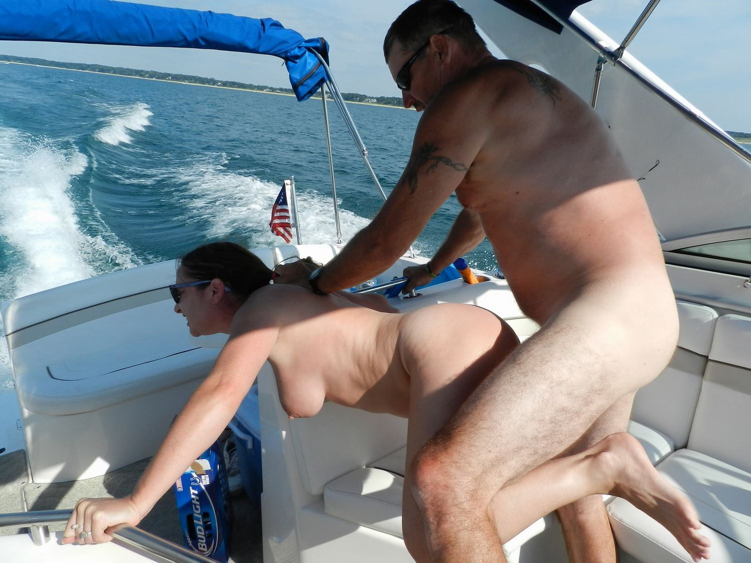 Amateur couple sex boat