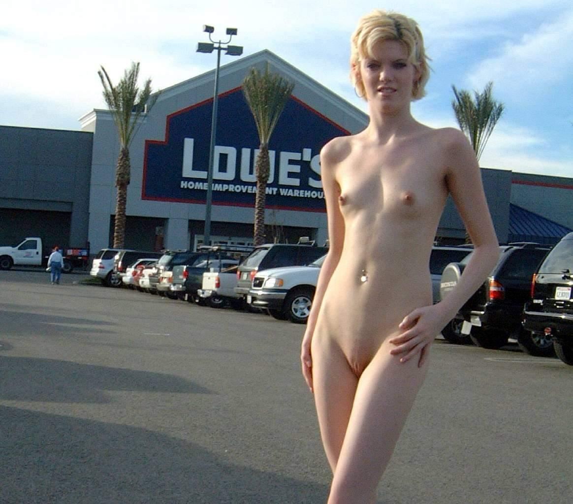 Parking naked in nude girls lot women