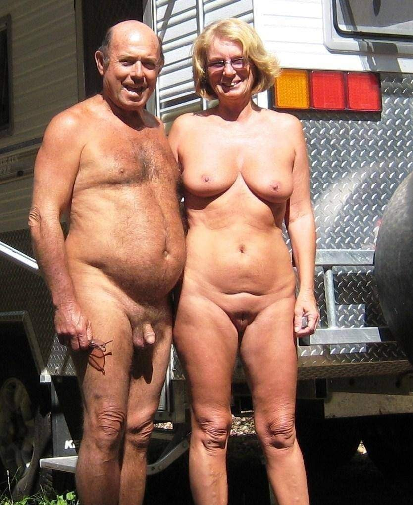 nudist couples - grandpa and grandma - motherless