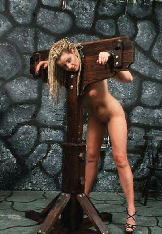 For naked woman in the pillory consider, what