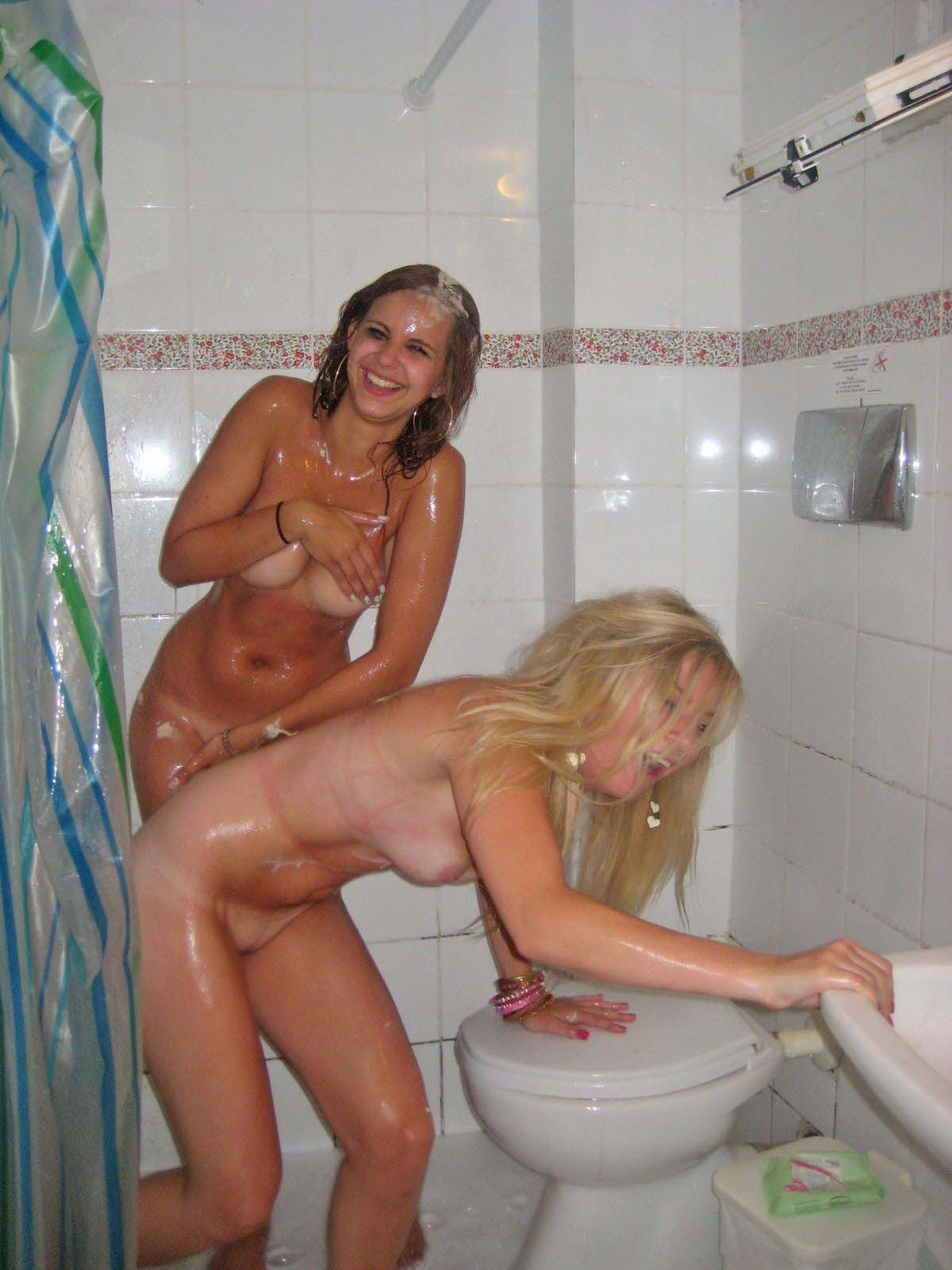 Shower caught nude in