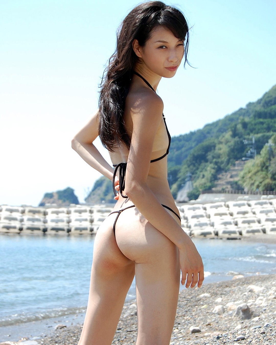 Micro Hairy bikini girls asian