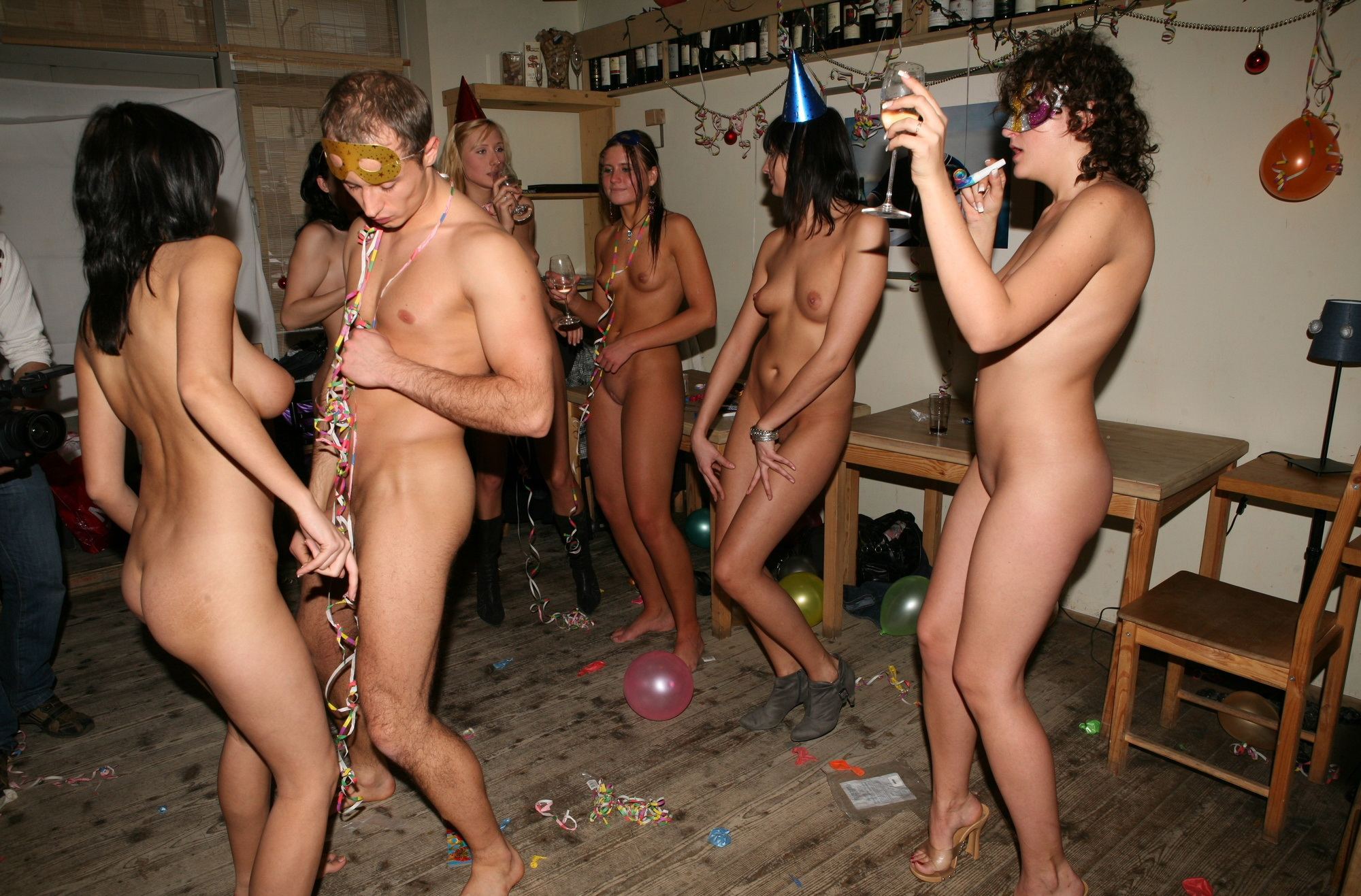 The same. Family nudist party