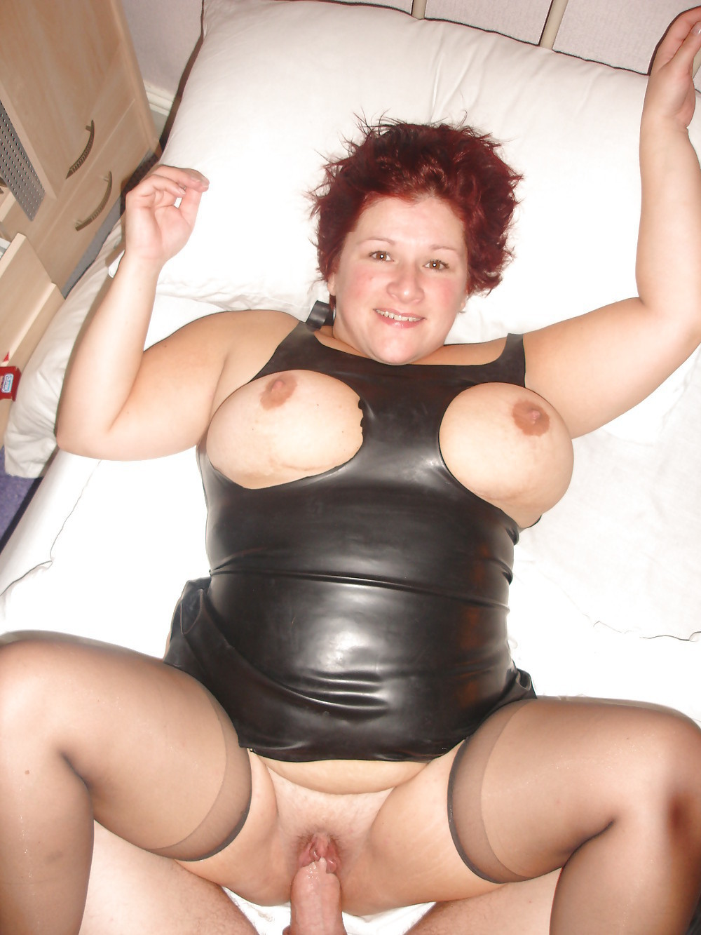 chubby latex - chubby/fat/bbw wearing lack/leather/latex