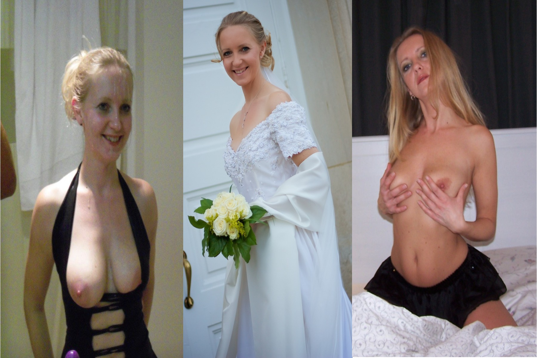 sexy blonde wife dressed undressed / before after | motherless ™